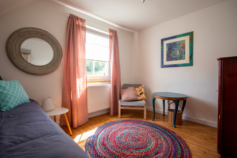 Das Kinderzimmer in der Ferienwohnung Odenwald in Buchen.